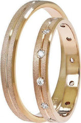Golden Wedding Rings SAT02 Stergiadis - Goldy Jewelry Store
