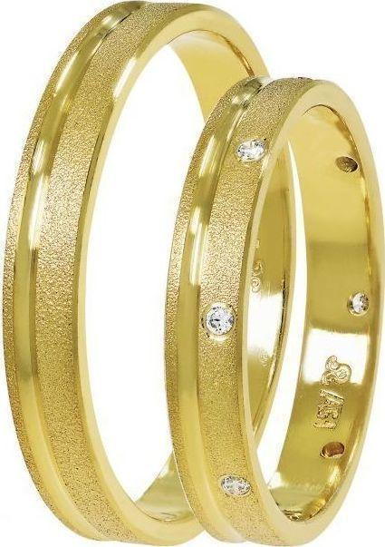 Golden Wedding Rings SAT03 Stergiadis - Goldy Jewelry Store