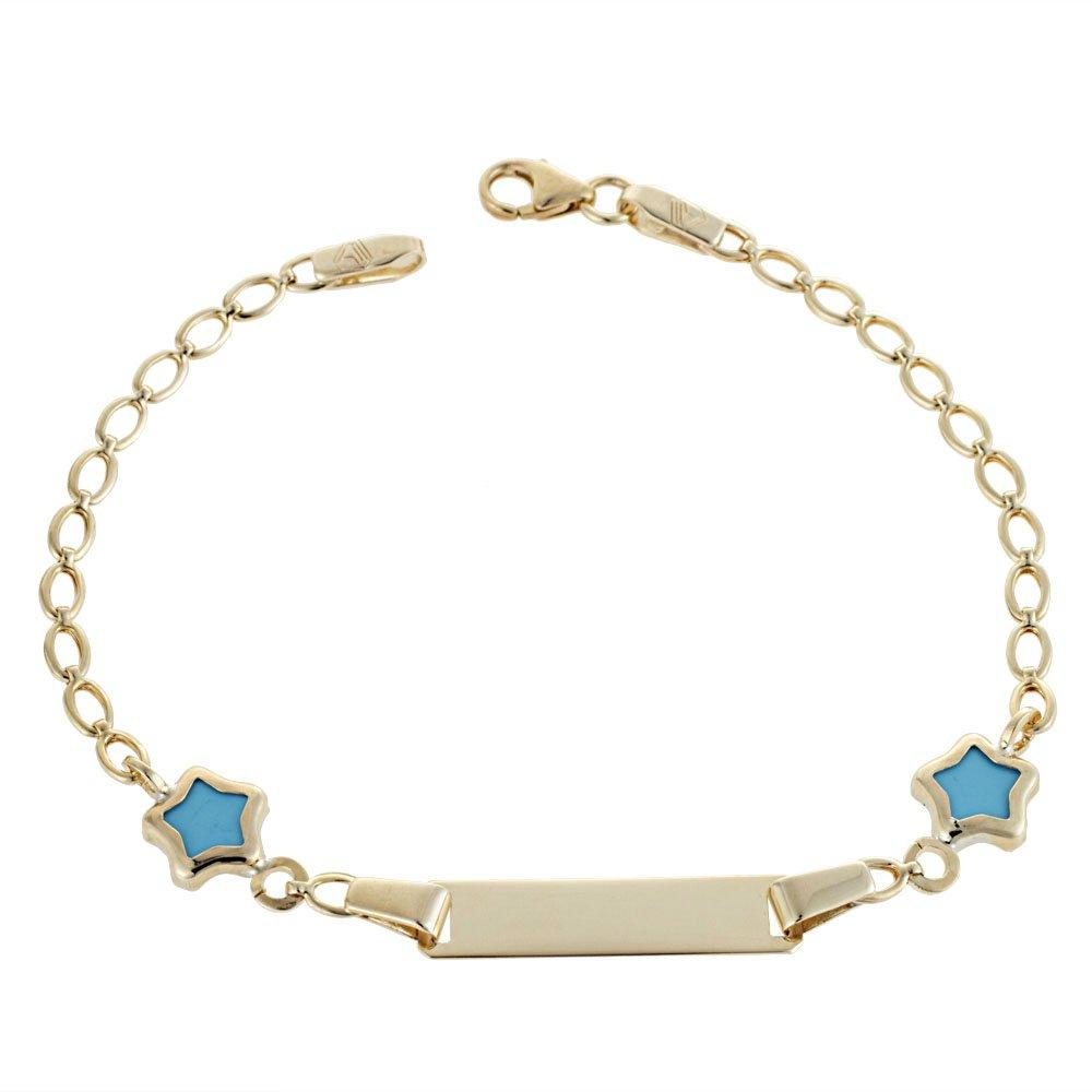 Golden Child Identity T114 K9 with Blue Stars - Goldy Jewelry Store