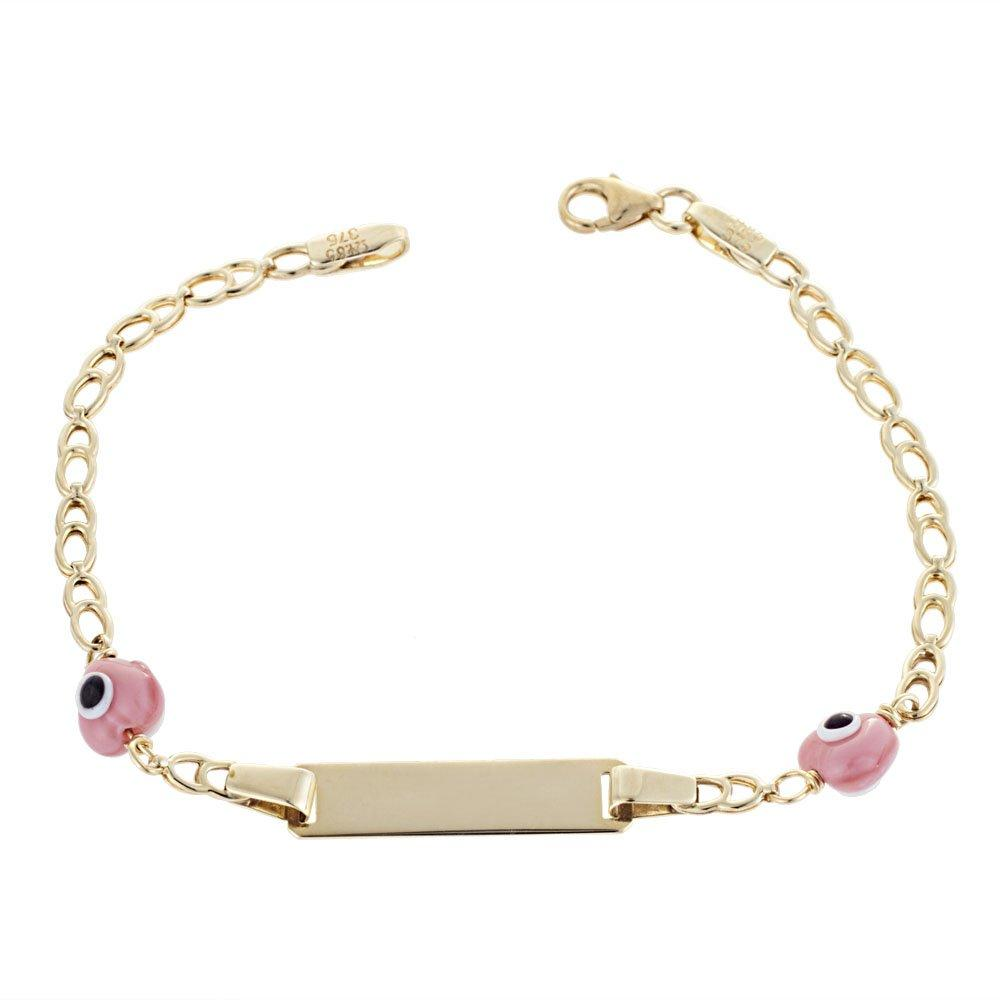Gold Children's Identity T119 K9 with Pink Eyes - Goldy Jewelry Store