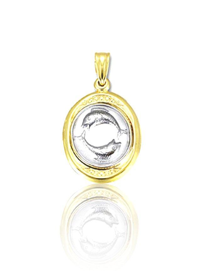 Pisces zodiac sign STS11024 Gold K9 - Goldy Jewelry Store