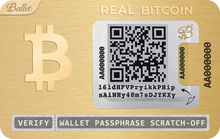 Load image into Gallery viewer, BlackFriday (24K Gold-Plated REAL Bitcoin + REAL USD)