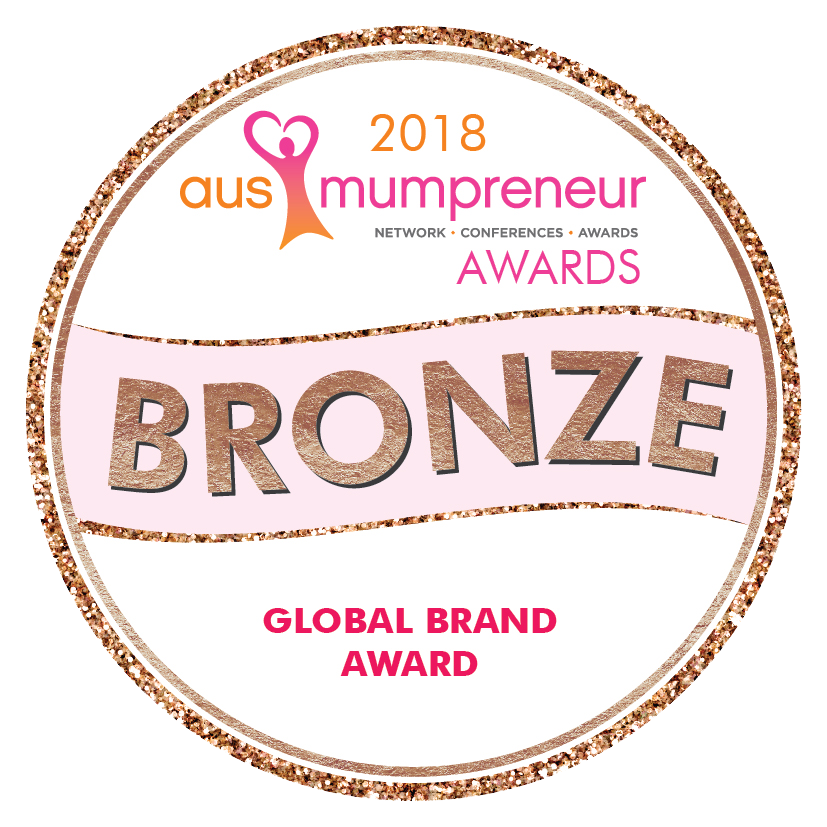 AusMumpreneur Awards Bronze in Global Brand - We Might Be Tiny