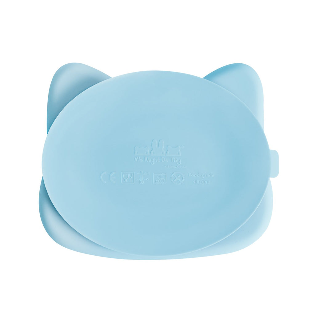 Cat Stickie™ Plate - Powder Blue