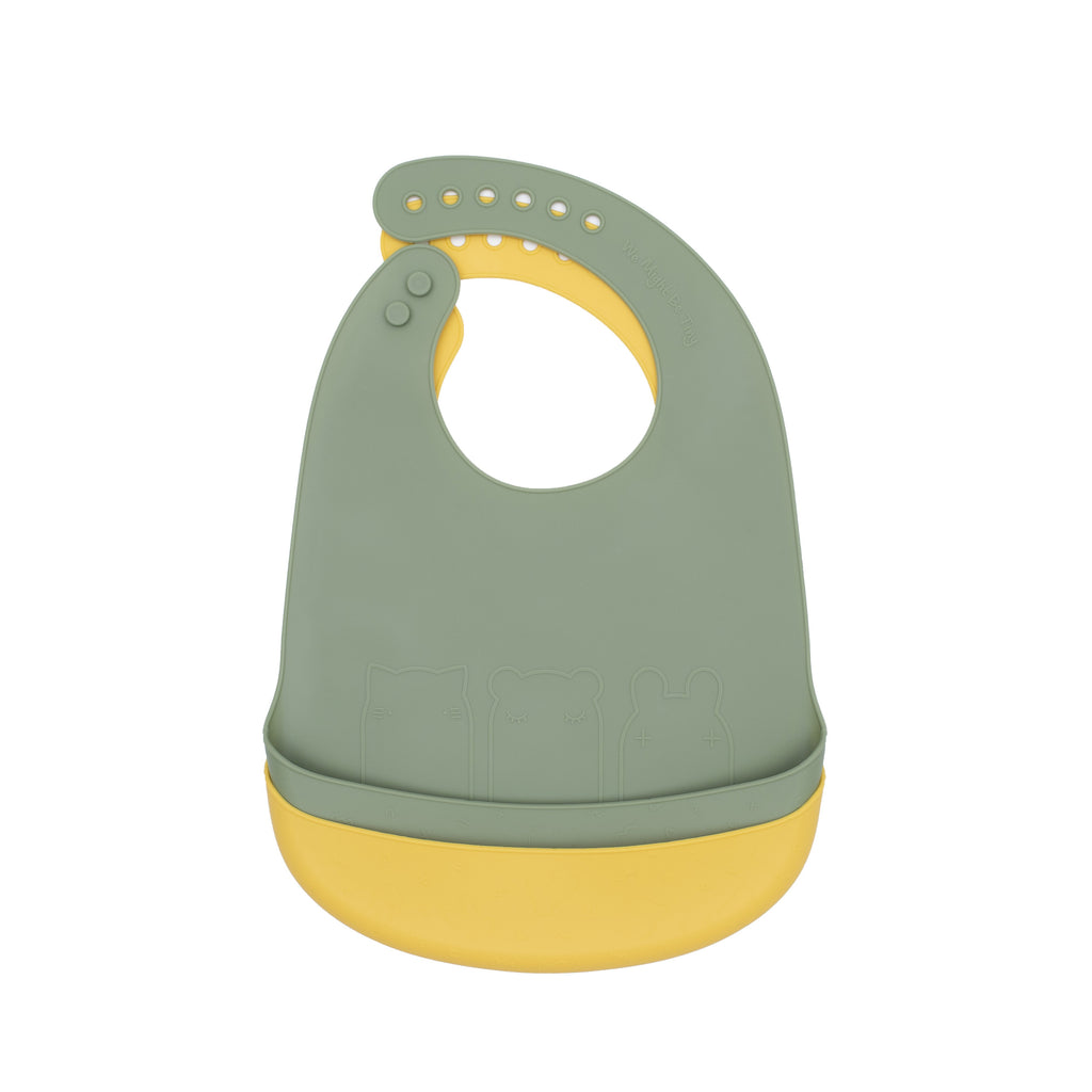 Catchie Bibs - Sage + Yellow