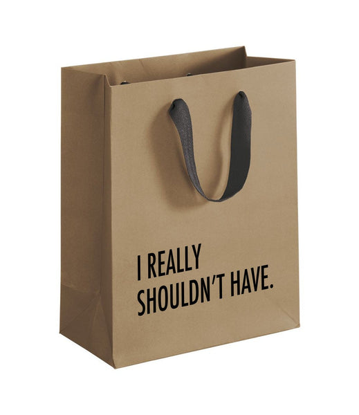I Really Shouldn't Have gift bag,  Gift & Wine Bag, handmade, american made - The Matt Butler