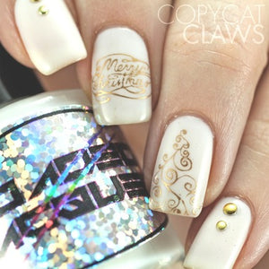 Nail Art Stamping Plate | Jingle All the Way