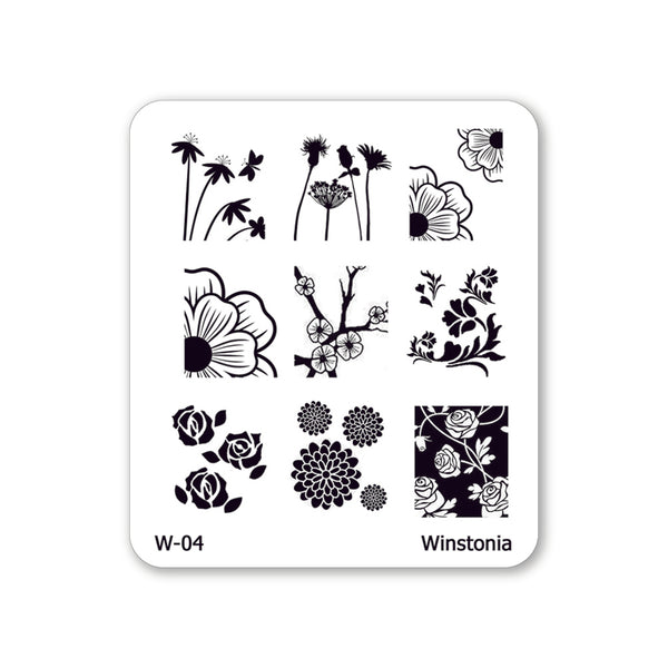 Nail Art Stamping Plate - Floral