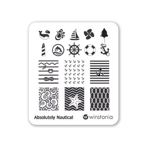 Nail Art Stamping Plate - Absolutely Nautical
