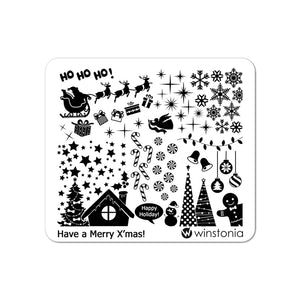Nail Art Stamping Plate - Have a Merry X'mas!