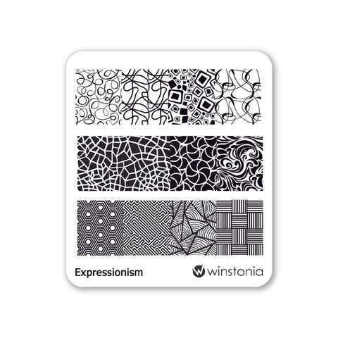 Nail Art Stamping Plate - Expressionism