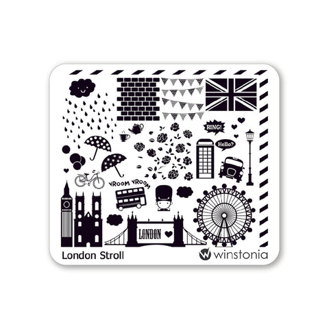 Nail Art Stamping Plate - London Stroll