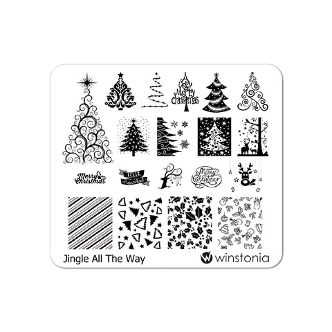 Nail Art Stamping Plate - Jingle All the Way