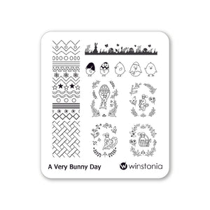 Nail Art Stamping Plate - A Very Bunny Day