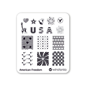 Nail Art Stamping Plate - American Freedom