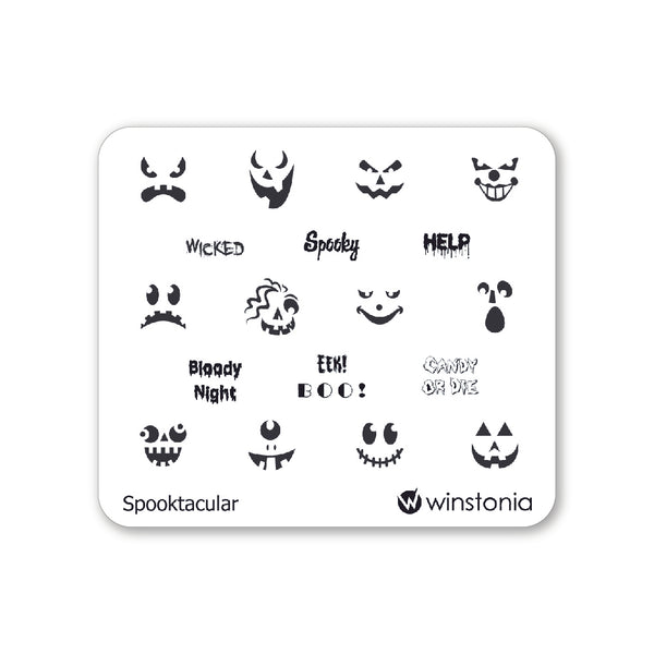 Nail Art Stamping Plate - Spooktacular