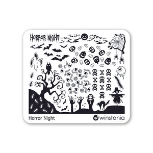 Nail Art Stamping Plate - Horror Night