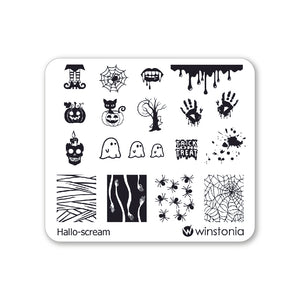 Nail Art Stamping Plate - Hallo-scream
