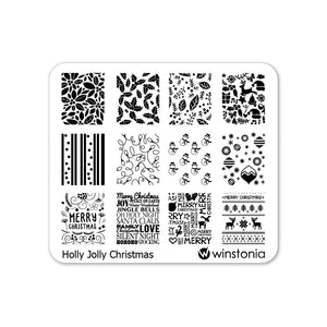 Nail Art Stamping Plate - Holly Jolly Christmas