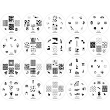 Load image into Gallery viewer, Nail Art Stamping Image Plates 20 Pcs Set | 1st Generation