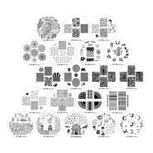 Load image into Gallery viewer, Nail Art Stamping Image Plates 20 Pcs Set | 4th Generation