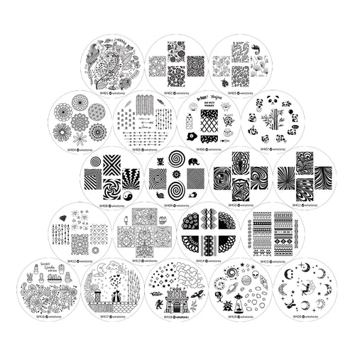 Nail Art Stamping Image Plates 20 Pcs Set | 4th Generation