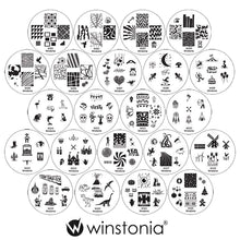 Load image into Gallery viewer, Nail Art Stamping Image Plates 22 Pcs Set | 2nd Generation