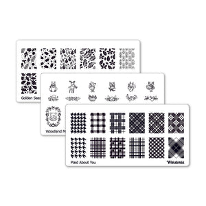 Nail Art Stamping Plates 3Pcs Set | Fall Collection I