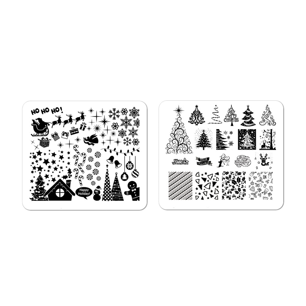 Nail Art Stamping Plates Set | Christmas Collection I