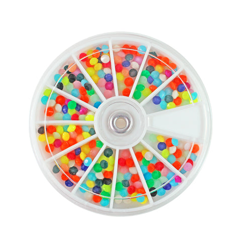 Nail Art Rainbow Candy 3D Beads