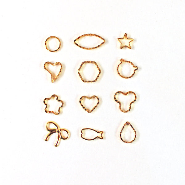 Nail Art Metallic Metal Charms