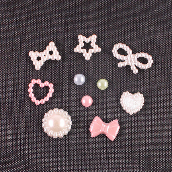 Nail Art Faux Pearls 3D Charms