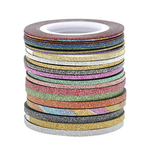Nail Striping Tapes, 21 Rolls Matte Glitter
