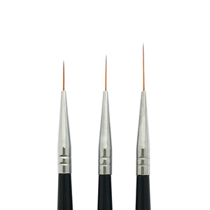 3 Pcs Nail Art Striping Brushes Set | AMAZING TRIO
