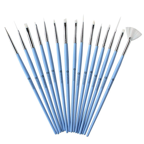 15 Pcs Nail Art Brushes Set | SOMETHING BLUE