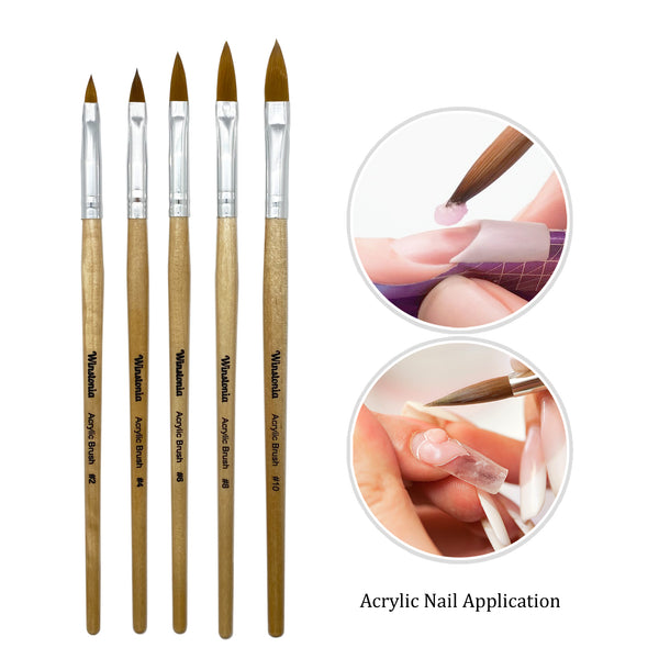 5 Pcs Acrylic Nail Brush