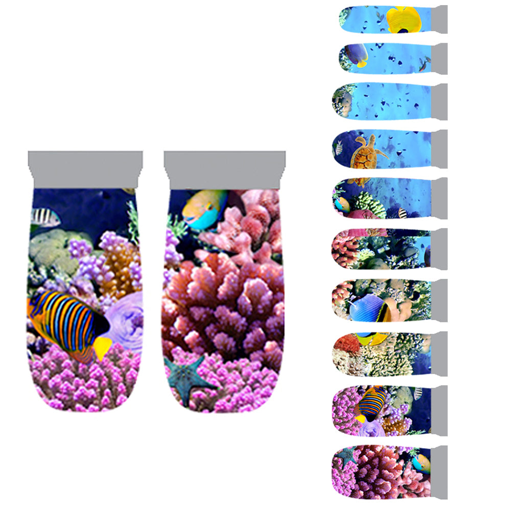 Nail Wrap Stickers, 20 Pcs Deep Ocean