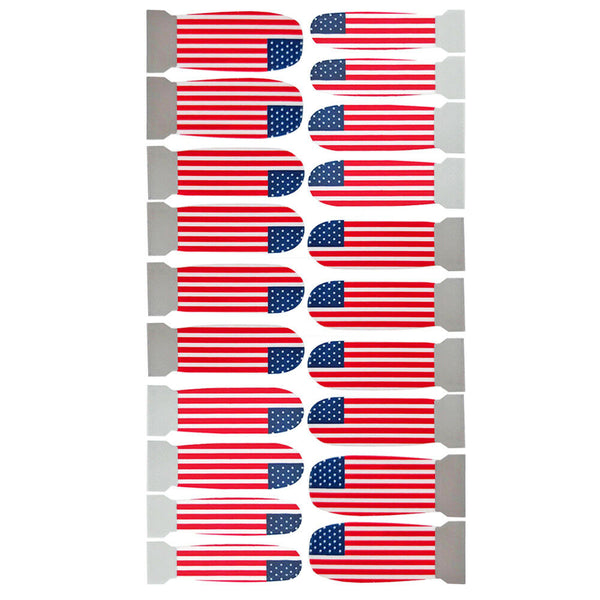 Nail Wrap Stickers, 20 Pcs American Flag Designs
