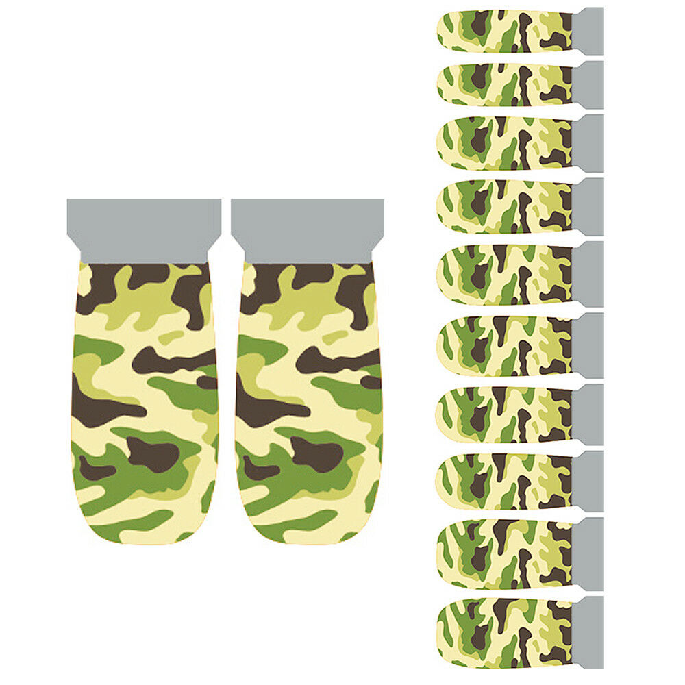 Nail Wrap Stickers, 20 Pcs Camouflage Designs