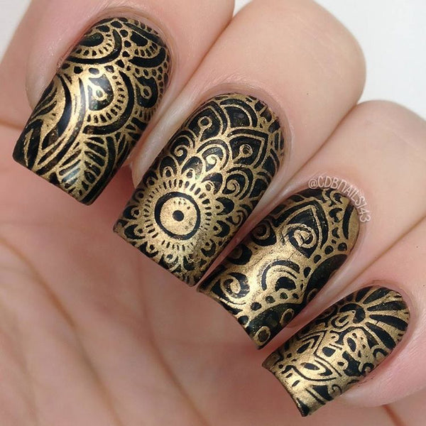 Nail Art Stamping Plate - Wisdom of Henna