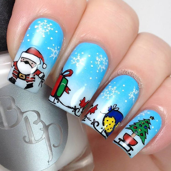 Nail Art Stamping Plate - The North Pole