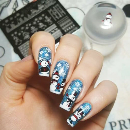 Nail Art Stamping Plate | Winter Wonderland