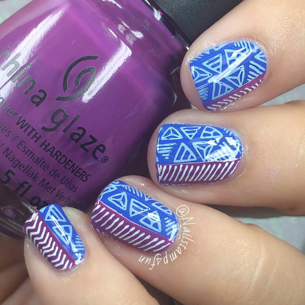 Nail Art Stamping Plate - Color Me Vine