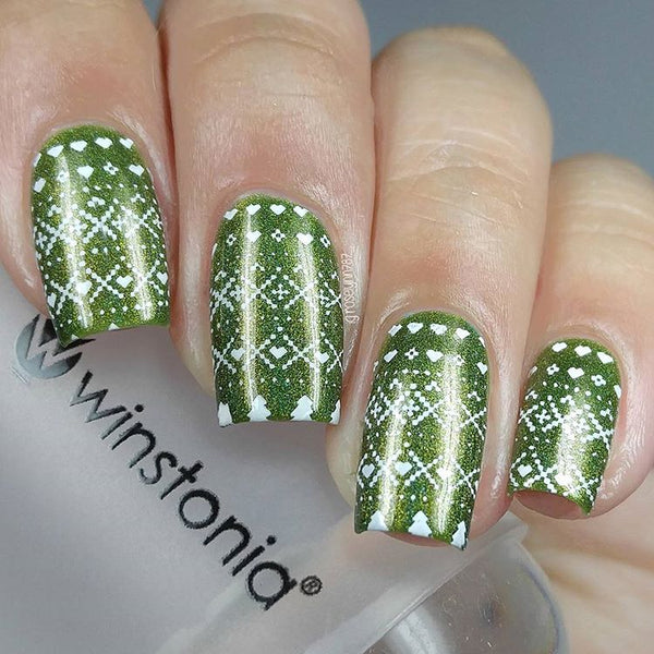 Nail Art Stamping Plate - Winter Wonderland