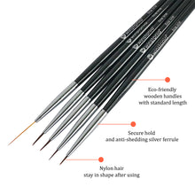 Load image into Gallery viewer, 5 Pcs Nail Art Detailer and Striping Brushes Set | FINE LINE