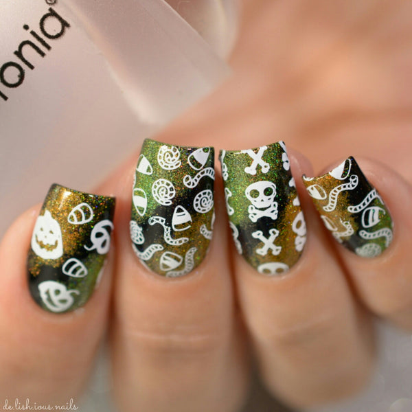 Nail Art Stamping Plate | Horror Night