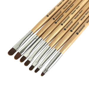 7 Pcs Gel Nail Brushes Set | WOODEN ALLURE