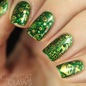 Nail Art Stamping Plate | Holly Jolly Christmas
