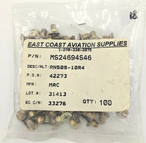 Aircraft Hardware MS24694S46 Bag of 100