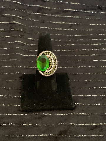 Sterling Silver Ring 925 Emerald